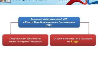 Процедура включения в реестр недобросовестных поставщиков по 44-фз: основания для внесения и правовые последствия