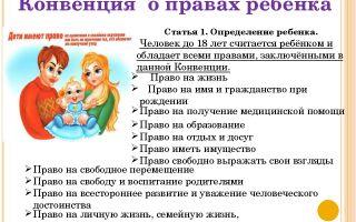 Консультация для родителей дошкольников «о правах ребенка»: зачем она нужна и где получить?
