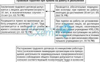 Общие и специальные юридические гарантии при приеме на работу