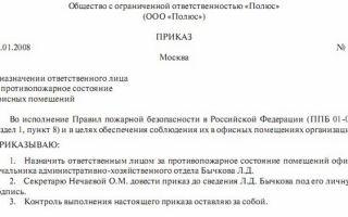 Образец приказа о назначении ответственных лиц и нюансы его составления
