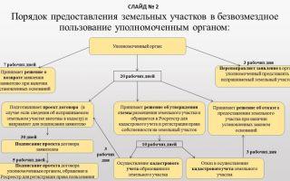 Срок предоставления земельных участков в срочное пользование государственным учреждениям