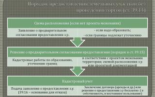 Порядок предоставления земельного участка без торгов в аренду