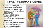 Права ребенка в семье и их соблюдение и защита. обязанности детей перед родителями