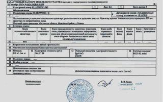 Процедура внесения изменений в кадастровый паспорт земельного участка